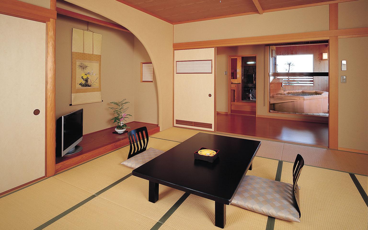 純和風にしつらえた癒しの空間|別館すずき客室